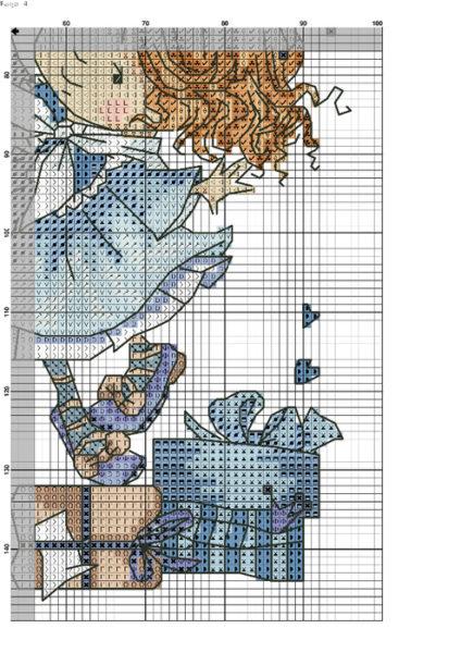 """схема вышивки крестиком """"Девочка с шариком""""3"""