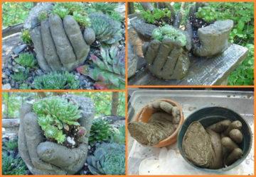 поделки из цемента своими руками для дачи и сада
