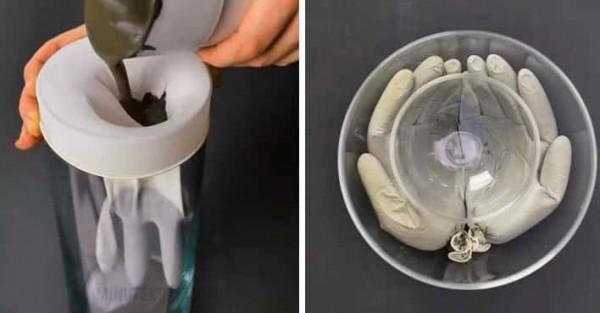 вазон- руки из перчаток своими руками для дачи