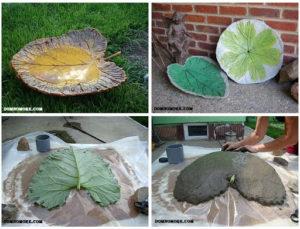 цементный лист своими руками с использование живого листа