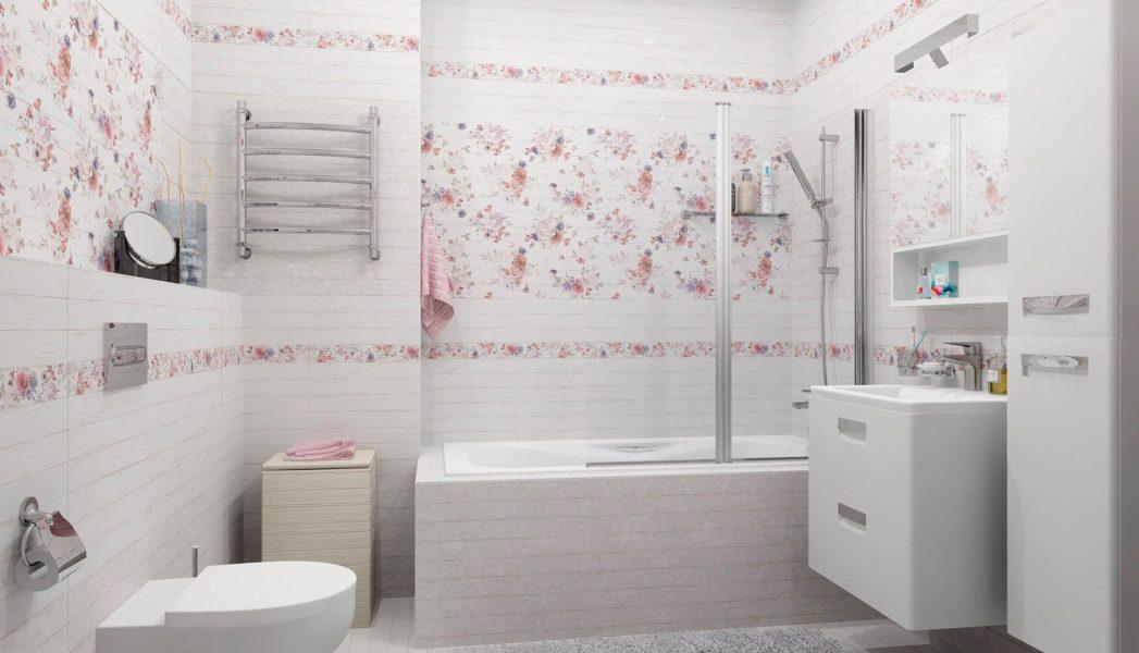 интерьер ванной комнаты в стиле шебби-шик