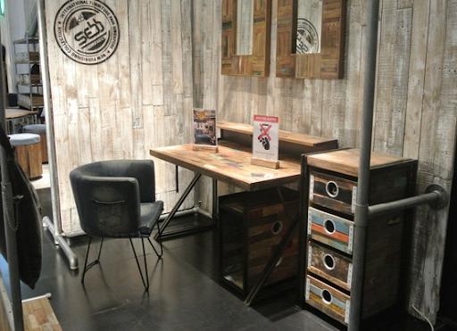 офис в стиле шебби-шик