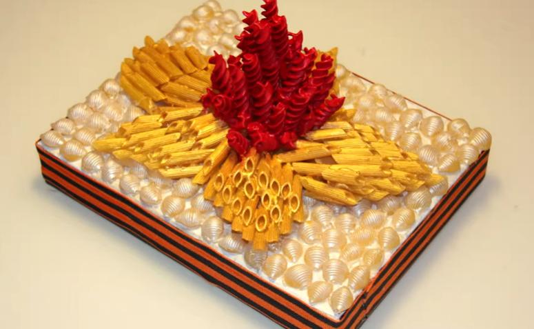 «Вечный огонь» из макарон