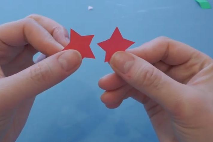 вырезаем 2 звездочки